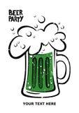 Glückliches St- Patrick` s Tagesplakat Illustration eines Bierkrugs Bier Lizenzfreies Stockbild