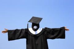 Glückliches Student im Aufbaustudiumenmädchen Stockbilder