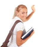 Glückliches Studentenmädchen lizenzfreies stockfoto