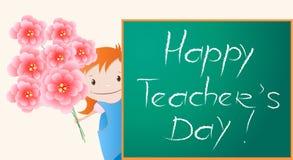 Glückliches Teacher& x27; s-Tag Stockbild
