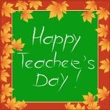 Glückliches Teacher& x27; s-Tag Stockfotografie