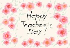 Glückliches Teacher& x27; s-Tag Lizenzfreie Stockbilder