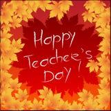 Glückliches Teacher& x27; s-Tag Lizenzfreies Stockbild