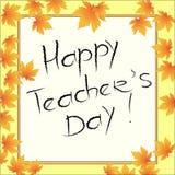 Glückliches Teacher& x27; s-Tag Lizenzfreie Stockfotos