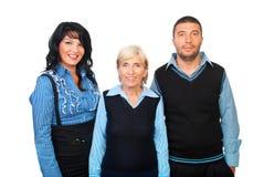 Glückliches Team der Geschäftsleute Stockbilder