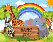 Glückliches Tier im Zoo vektor abbildung