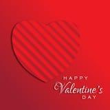 Glückliches Valentinsgruß-Tagesgruß-Karten-Design Stockbilder