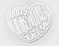 Glückliches Valentinsgruß-Tagesherz lizenzfreie abbildung
