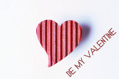 Glückliches Valentinsgrußpapierherz Lizenzfreie Stockbilder