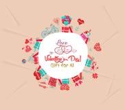 glückliches Valentinsgrußtagesgeschenk für alle Stockfotos