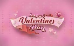 Glückliches Valentinsgrußtagesplakat mit Kalligraphietext auf Band Technologiehintergrund, vom besten Konzept der Serie des globa stockbild