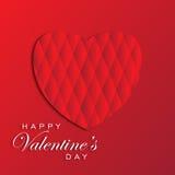 Glückliches Valentinsgrußtagesvektorgruß-Kartendesign Stockbilder