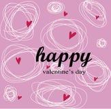 Glückliches Valentinsgrußtagideal für Grußkarte oder -hintergrund Lizenzfreies Stockfoto