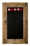 Glückliches Valentinstag-Liebes-Tafel-Restaurant-Menü-Brett Recl Lizenzfreie Stockbilder