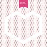 Glückliches Valentinstag- und Rotherz auf weißem Hintergrund Zwei verklemmte Innere Stockfotografie