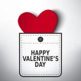 Glückliches Valentinstagtaschen-Vektordesign Lizenzfreies Stockbild