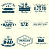 Glückliches Vatertagsdesign Lizenzfreie Stockfotos
