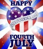 Glückliches Viertel von Juli-Unabhängigkeitstag Lizenzfreie Stockfotografie
