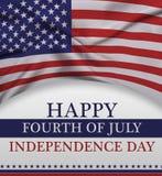 Glückliches Viertel von Juli und von Unabhängigkeitstag Lizenzfreies Stockfoto