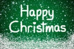 Glückliches Weihnachten auf grünem Hintergrund vektor abbildung