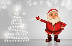 Glückliches Weihnachten der frohen Weihnachten, Sankt vektor abbildung