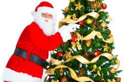 Glückliches Weihnachten Sankt lizenzfreie stockbilder
