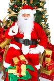 Glückliches Weihnachten Sankt stockfotos