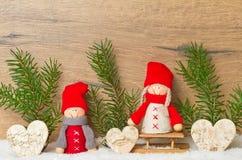 Glückliches Weihnachten, Winterkarte Lizenzfreie Stockbilder