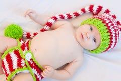Glückliches Weihnachtsbaby! Stockfotografie