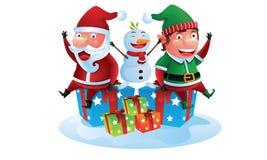 Glückliches Weihnachtsbegleiter lizenzfreie abbildung
