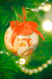Glückliches Weihnachtsdekoration mit Weihnachtsmann Lizenzfreie Stockfotografie