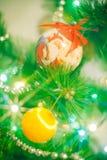 Glückliches Weihnachtsdekoration mit Weihnachtsmann Lizenzfreie Stockfotos