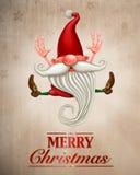 Glückliches Weihnachtselfe Grußkarte Lizenzfreies Stockbild