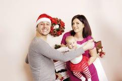Glückliches Weihnachtsfamilie Stockfotografie