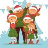 Glückliches Weihnachtsfamilie Stockfoto