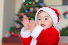 Glückliches Weihnachtsfeier stockfotografie