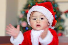 Glückliches Weihnachtsfeier stockfoto