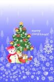 Glückliches Weihnachtsgrußkartenhintergrund - kreative Illustration eps10 Stockfoto