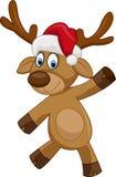 Glückliches Weihnachtskarikaturrotwild Stockbilder