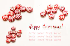 Glückliches Weihnachtskarte Stockfotografie