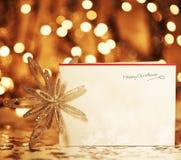 Glückliches Weihnachtskarte Stockfotos