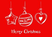 Glückliches Weihnachtskarte Stockbilder