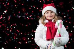 Glückliches Weihnachtsnacht Stockbild