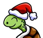 Glückliches Weihnachtsschildkröte lizenzfreie abbildung