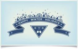 Glückliches Winterurlaubgrußgestaltungselement Lizenzfreies Stockfoto