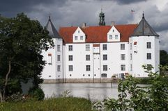Glücksburg Castle. The castle Glücksburg, built between 1583 and 1587 under Duke Johann the Younger 1545 -1622, belongs to one of the most important stock photo