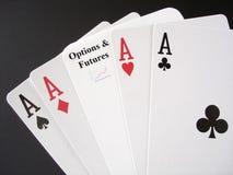 Glücksspiel auf Optionen und Termingeschäften Stockfoto