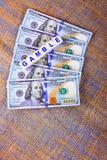 Glücksspiel-Geld Lizenzfreies Stockfoto