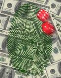 Glücksspiel-Investition oder Untersuchung Stockbild
