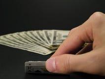 Glücksspiel-Sammlung - schwarze Steckfassung Lizenzfreies Stockbild